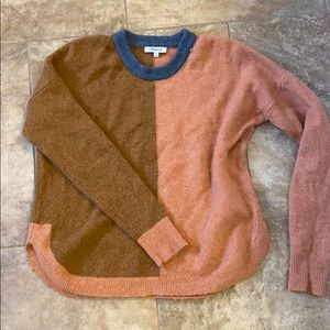 Madewell color blocking sweater